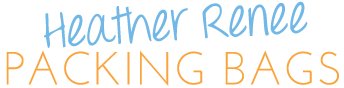 Welcome to Heather Renee packing Bags! logo